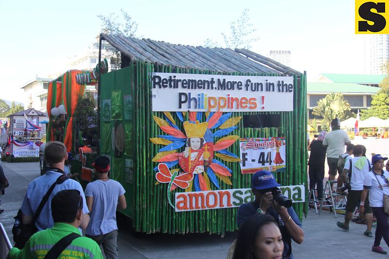 Philippine Retirement Authority and Amonsagana float during Sinulog 2016