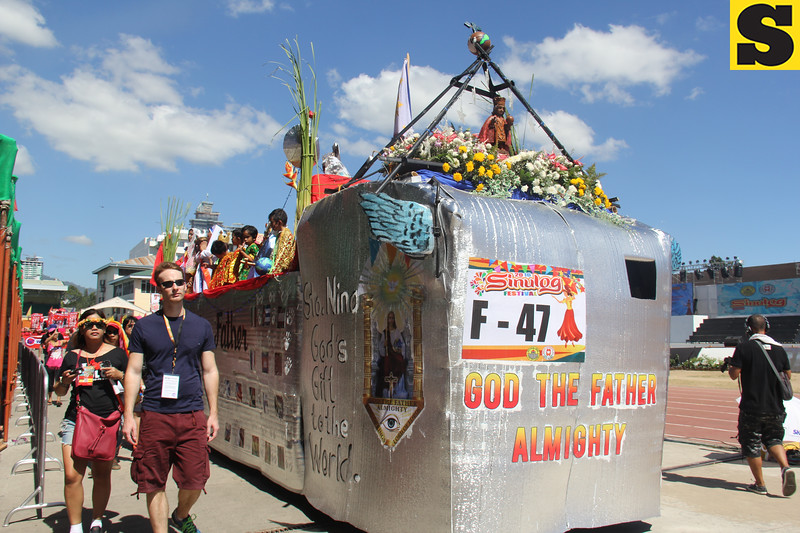 God the Father Almighty float during Sinulog 2016