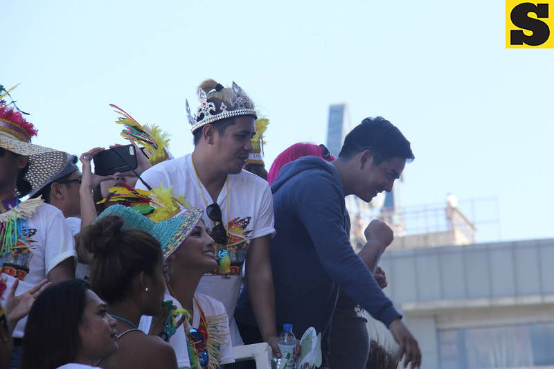 Neil Coleta onboard a Sinulog grand parade 2016 float