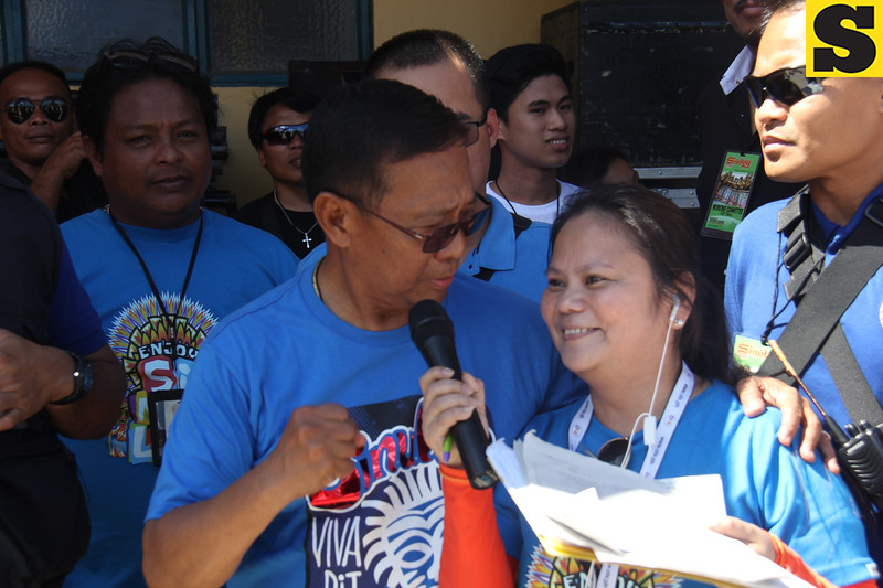Vice President Jejomar Binay during Sinulog grand parade 2016