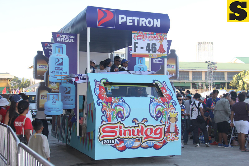 Petron Corp float during Sinulog 2016
