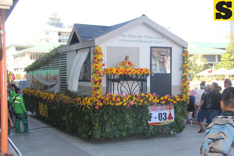 SHDA-HLURB Housing Developer float during Sinulog 2016