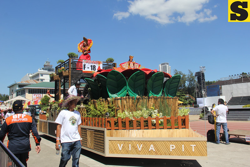 Woven Furniture Designs Inc float during Sinulog 2016
