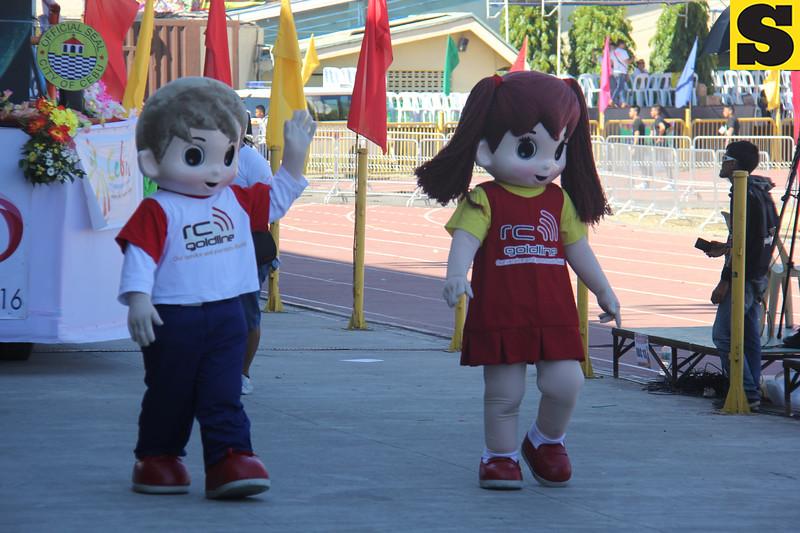 RC Goldline mascots during Sinulog 2016