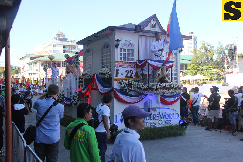 Landtraders World Properties float during Sinulog 2016