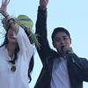 Bela Padilla and Coco Martin onboard Ang Probinsyano float during Sinulog 2016