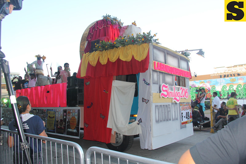 Barangay Labangon float during Sinulog 2016