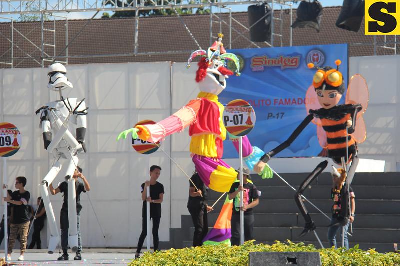 Angelique Marie Aranas and Ruben Mateo puppets