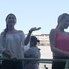 Maja Salvador and Bea Alonzo onboard Golden Kaizen float during Sinulog 2016