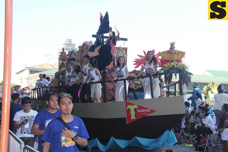 Tanduay float during Sinulog 2016