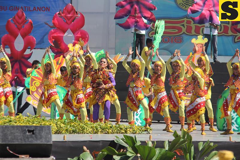 Tribu Ginatilanon of Ginatilan, Cebu performs during Sinulog 2016