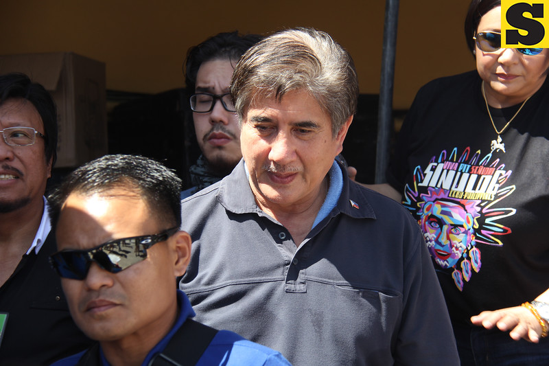 Senator Gringo Honasan during Sinulog grand parade 2016