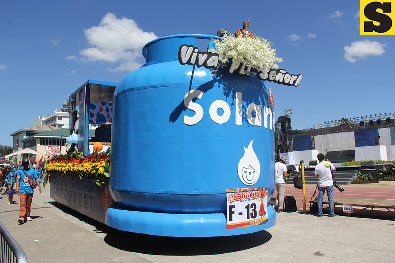 Solane LPG float during Sinulog 2016