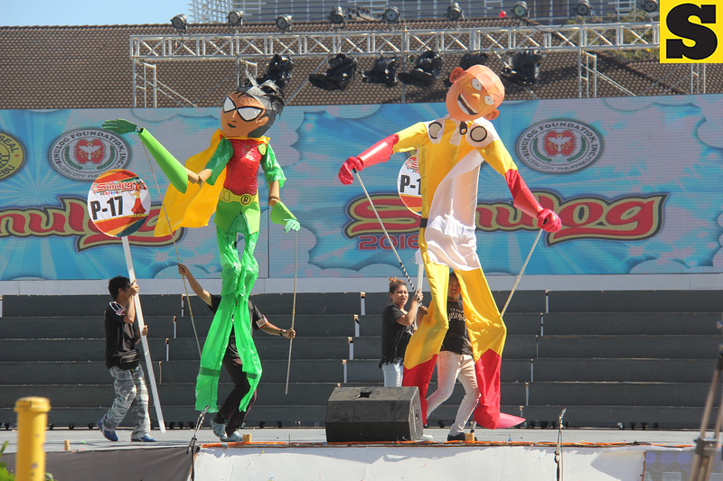 One Punch man and Robin puppets during Sinulog 2016
