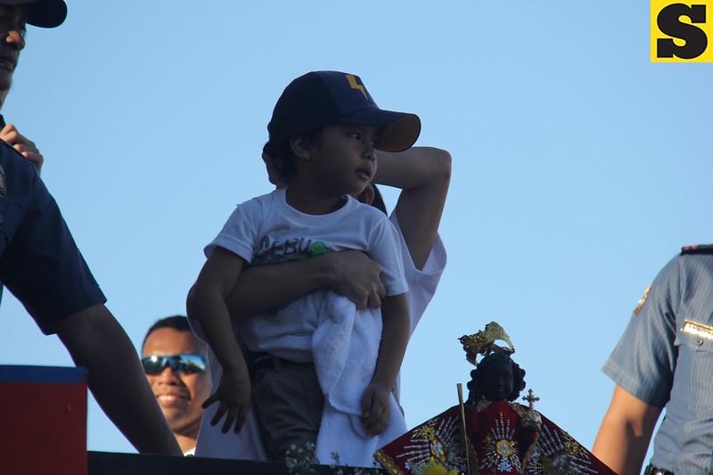 Onyok of Ang Probinsyano onboard Ang Probinsyano float during Sinulog 2016