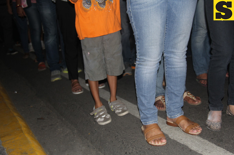 Sto. Nino devotees' feet