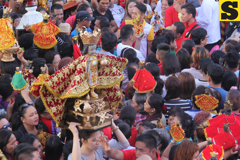 One of the biggest Sto Nino images during Opening Salvo mass