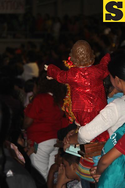 Sto Nino attending the Opening Salvo mass
