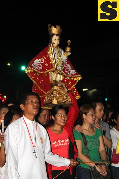 Sto Nino image carried during Walk with Jesus 2016