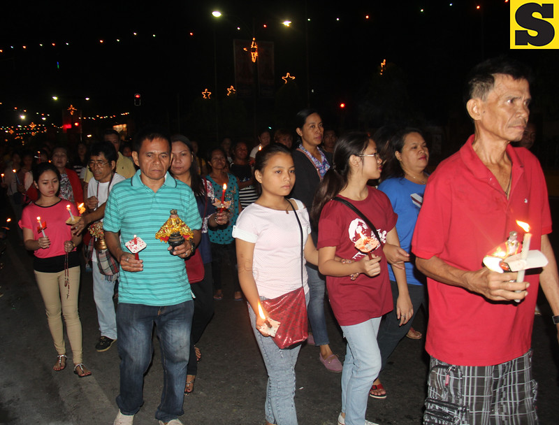 Devotees joing Walk with Jesus