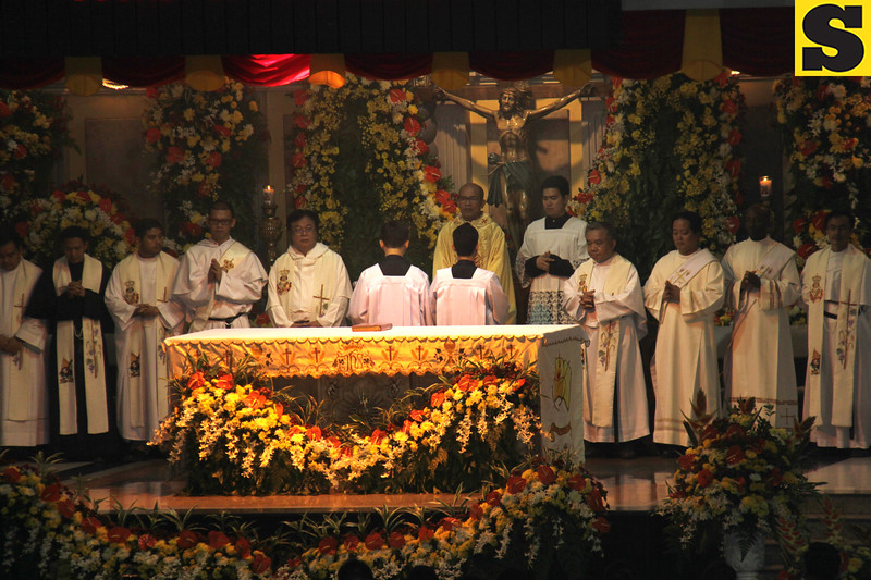 Priests officiating Opening Salvo 2016 mass