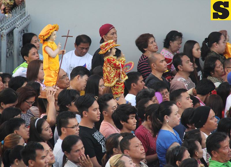 Sto Nino images during Opening Salvo mass