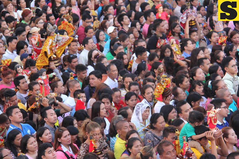 People attend first novena mass