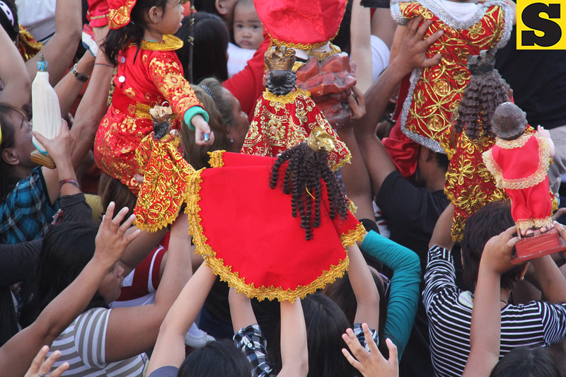 Sto Nino images during Opening Salvo mass