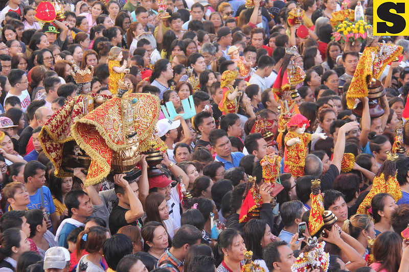 Sto Nino images at Pilgrim Center during Opening Salvo mass