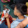 Child playing with Sto Nino image