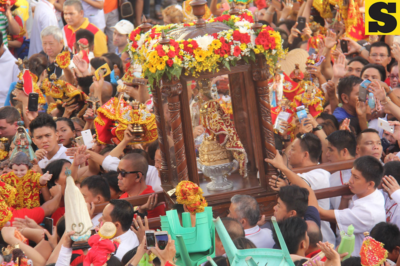 Sto. Nino image during Traslacion 2016