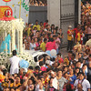 Our Lady of Guadalupe exiiting the Basilica Minore del Sto. Nino as the Traslacion 2016 begins.
