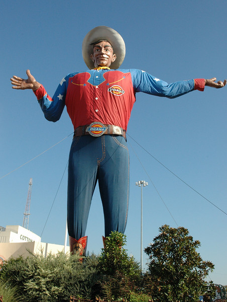 """Big Tex"" greets you when you enter"