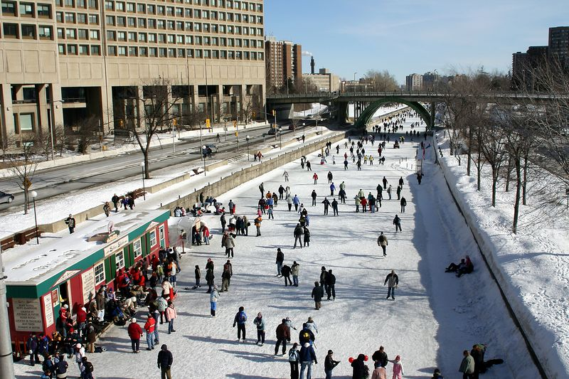 The canal is the longest skating rink in the world.