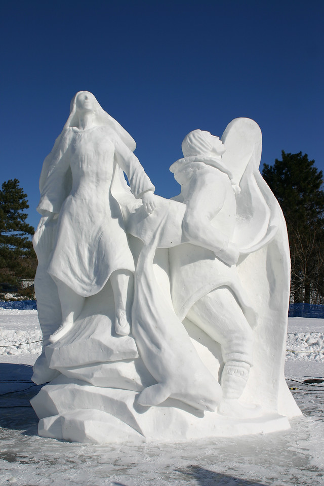 Amazing snow sculptures.