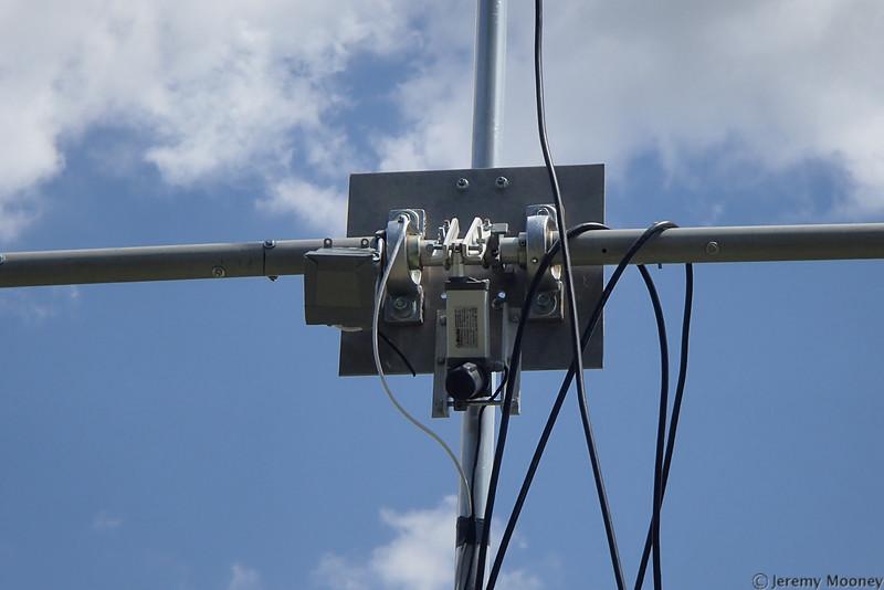 W0EF Field Day - Antenna elevation mechanism