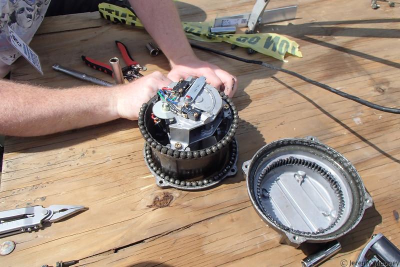 W0EF Field Day - repairing rotator
