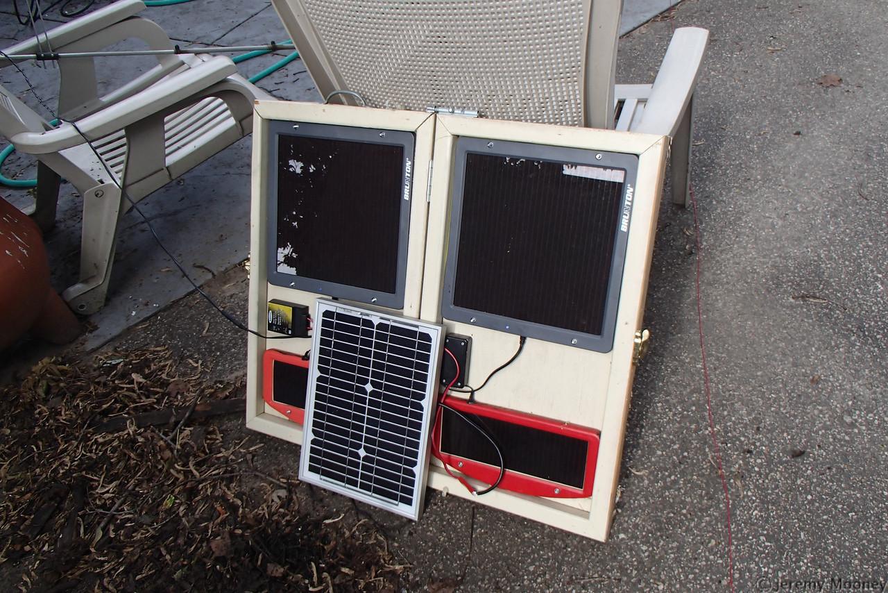 KE0NA (TC Doers) Field Day - FD solar array