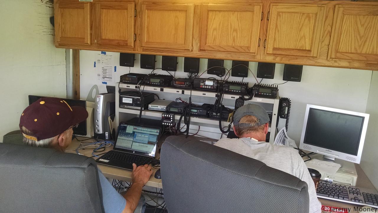 K0LTC Field Day - Trailer desk