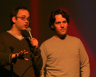 "David Wain ( director) and Paul Rudd ( actor) from ""The Ten"" - Unfortunately, I gave the movie a 1!"