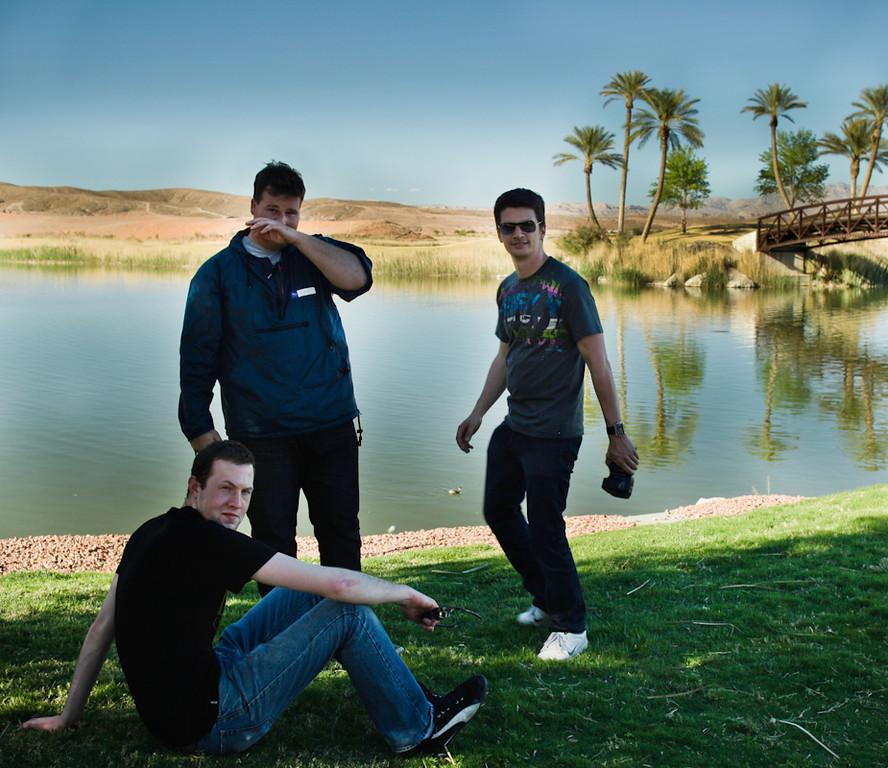Daniel, Scott, and Captain Nino.