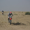 Coming in for landing at the Baha races, in the UAE desert.