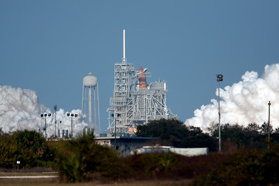 Final flight of Space Shuttle Discovery. Feb 24, 2011. Booster ignition.