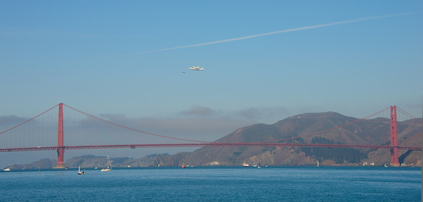 Endeavour over Golden Gate Bridge - © 2012 Brian Neal