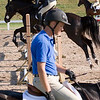 Record-Eagle/Douglas Tesner<br /> Before going into competition, riders and horses warm up in one of the many rings at Flintfields Horse Park in Williamsburg, the home of the 2008 Horse Shows by the Bay.