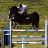 Record-Eagle/Douglas Tesner<br /> After hours of work, practices, training and preparation, rider Shane Sweetnam, from Spy Coast Farm, clears the hurdles riding Sienna.