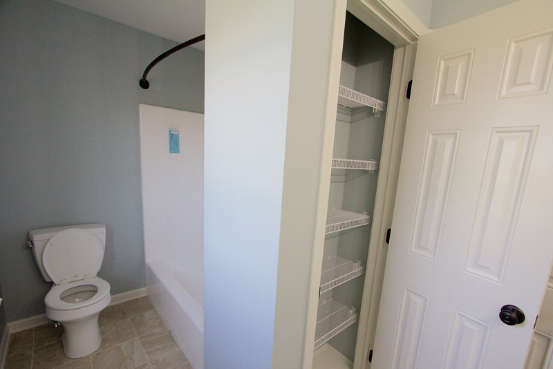 Kid's bath and linen closet
