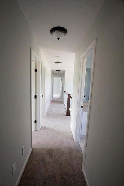 Upstairs hallway view from bonus room