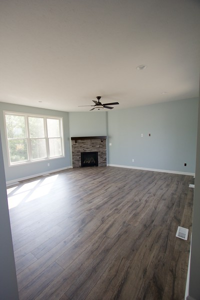 Looking into great room from foyer