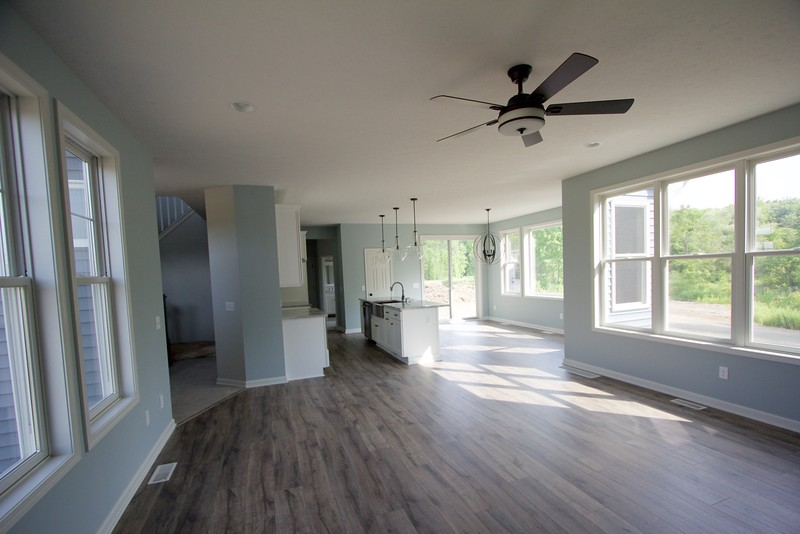 Great room looking into kitchen/ dining